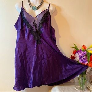 Other - Plus Size Purple Silk-Like Sexy Lingerie